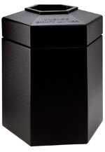 Hex Black Waste Container