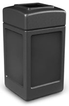Black Waste Container