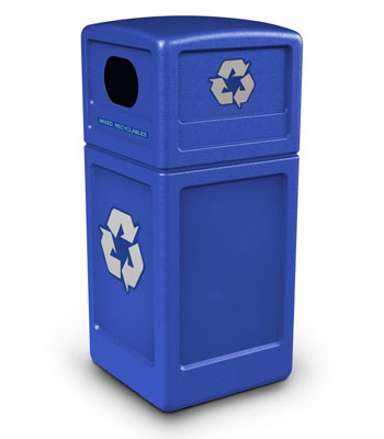 Green Zone Series Recycle42 Blue Recycling Container